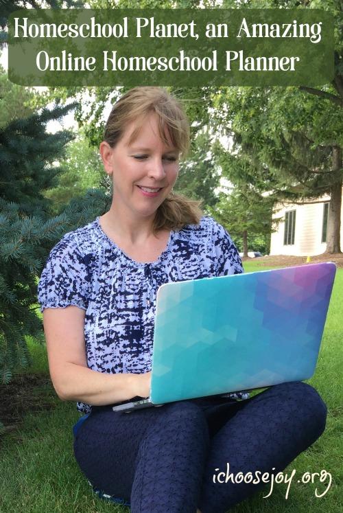 Review of Homeschool Planet, an Amazing Online Homeschool Planner. I Choose Joy!