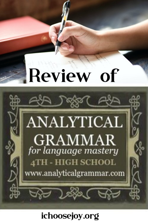 Review of Analytical Grammar curriculum for your homeschool.