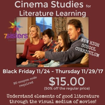 Wonderful 2017 black friday sales for homeschoolers i choose joy cinema studies study guides to help students study movies they watch from 7 sisters homeschool fandeluxe Images