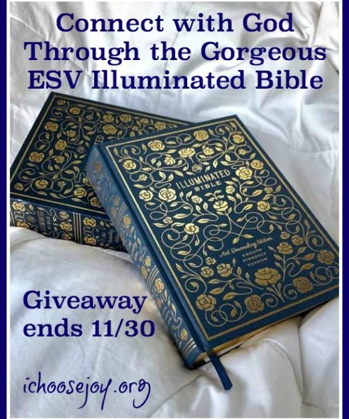 Connect with God Through the Gorgeous ESV Illuminated Bible ~ Review and Giveaway