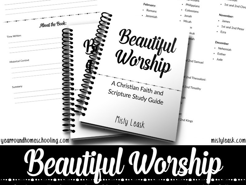 Beautiful Worship by Misty Leask is a Christian Faith and Scripture Study Guide to help you Get Close to God This Year. From I Choose Joy!