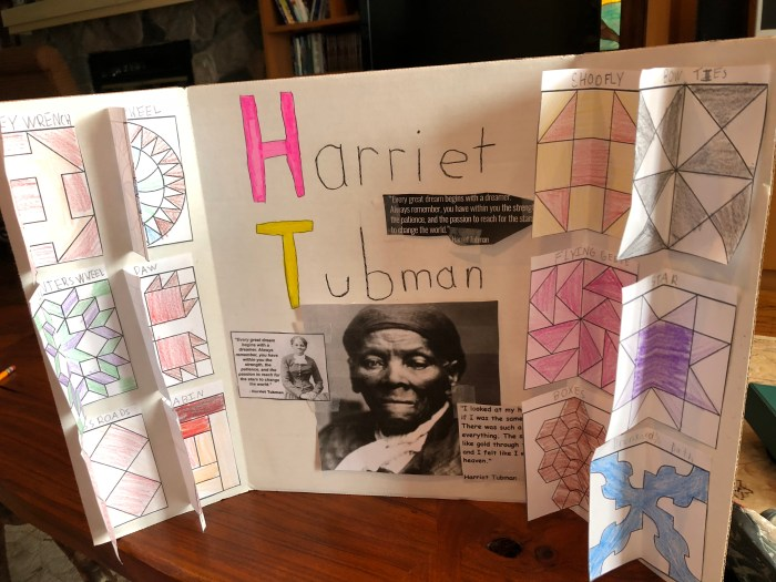 My daughter did a presentation on Harriet Tubman and the Underground Railroad at our Tapestry of Grace homeschool co-op.