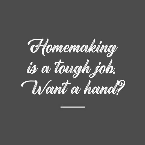 Homemaking Is a Tough Job. Want a hand? 5 Days of Homemaking Tips for Tired Moms. Today's tip is to get rid of that homemaking guilt once and for all!