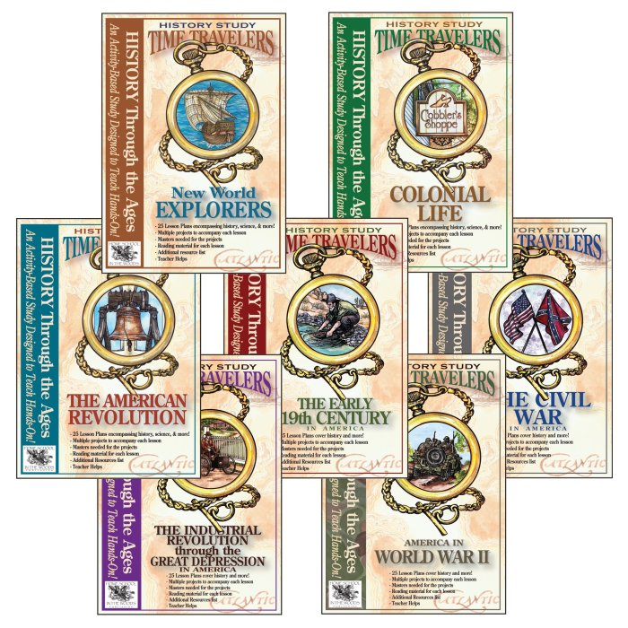 Time Travelers Bundle for American history from Homeschool in the Woods