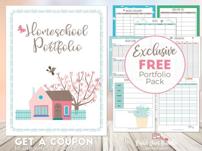 Build Your Bundle Homeschool Portfolio Pack Freebie