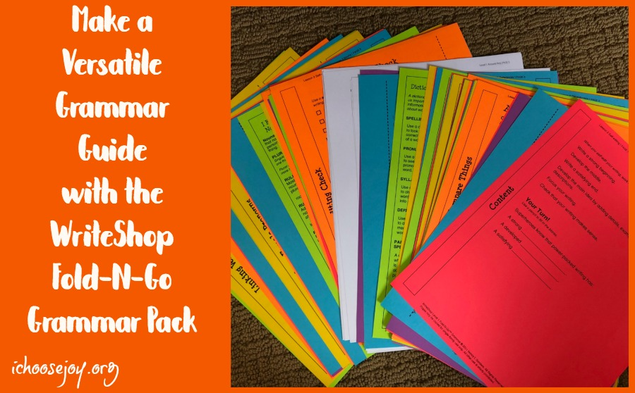 Make a Versatile Grammar Guide with the WriteShop Fold-N-Go Grammar Pack