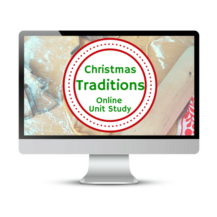 Christmas Traditions Online Unit Study is part of the Ho-Ho Homeschool Bundle for holiday-themed curriculum choices. #homeschool #christmas #homeschoolcurriculum #ichoosejoyblog