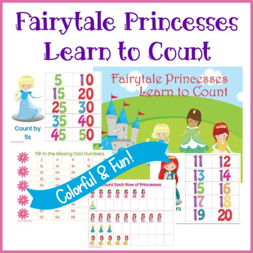 Fairy Princess Math Counting Sheets