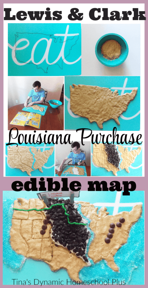 Lewis and Clark Louisiana Purchase Edible Map. A great visual to understand how vast it was. Grab the directions here and see more ideas from The Ultimate List of U.S. State Study Resources