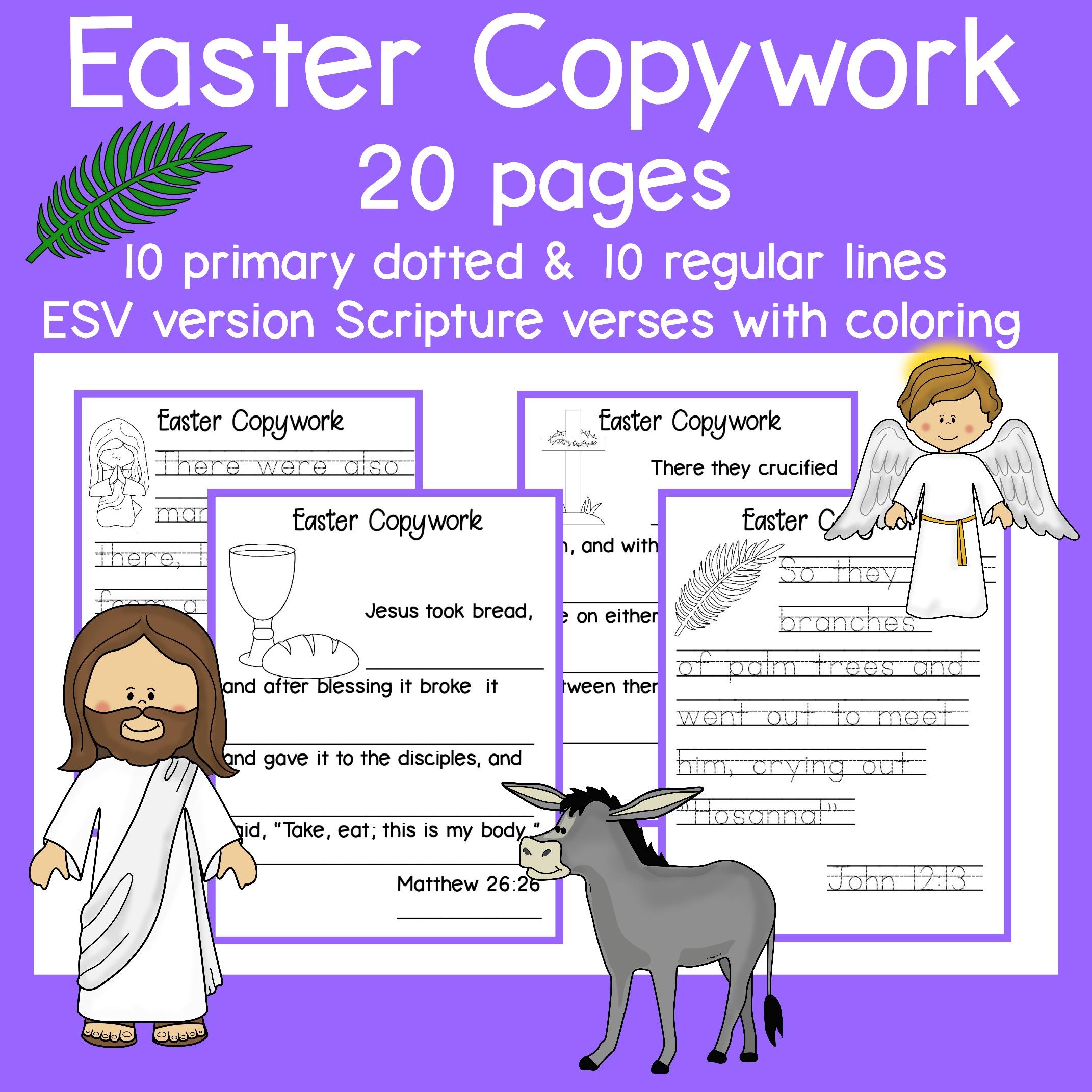 Easter Copywork