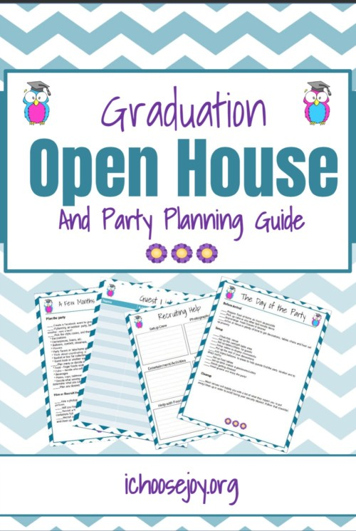 25-page printable pack to guide you through all your graduation party planning details. #graduation #graduationparty #partyplanning #partyguide #ichoosejoyblog