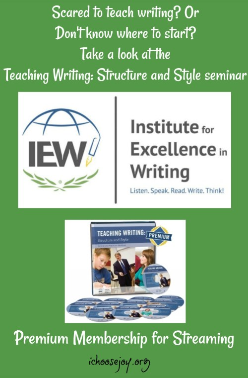 IEW Teaching Writing Structure and Style seminar is now available through online streaming. #writing #teachingwriting #homeschool #ichoosejoyblog