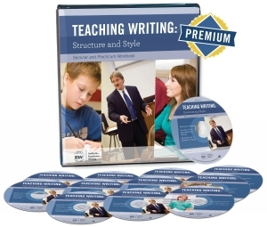 Teaching Writing: Structure and Style is a 14-hour seminar taught by master teacher Andrew Pudewa. Learn how to teach your kids how to write! #homeschool #writing #IEW #ichoosejoyblog