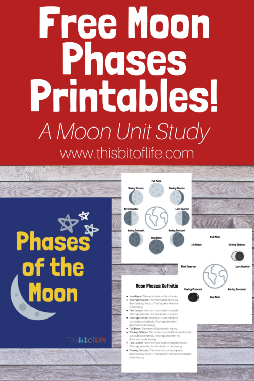 Free Moon Phases Printables.