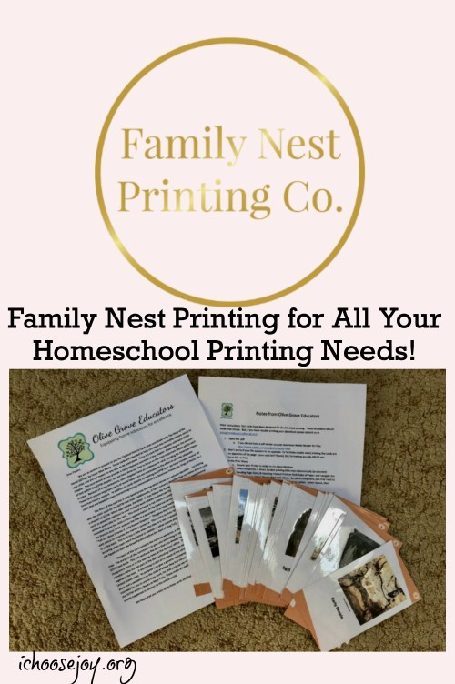 Family Nest Printing for All Your Homeschool Printing Needs