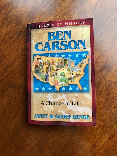Ben Carson- A Chance at Life. Come read my book review of this children's book about Ben Carson.