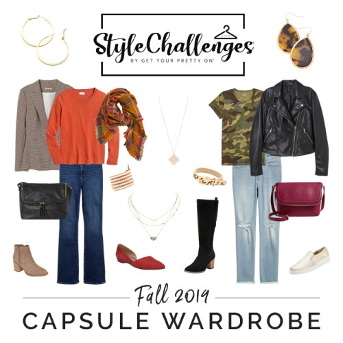Get Your Pretty On Fall 2019 Capsule Wardrobe Style Challenge