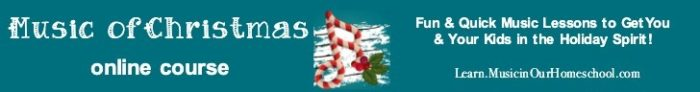 Music of Christmas Online Course for elementary students. Fifteen 15-minute music lessons!