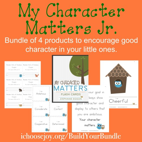 My Character Matters Jr., a bundle of 4 products to encourage good character in your little ones.