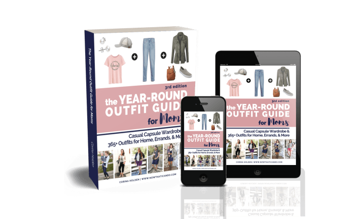 Print & Digital Book Display - The Year-Round Outfit Guide for Moms - Casual Capsule Wardrobe & Outfit Ideas