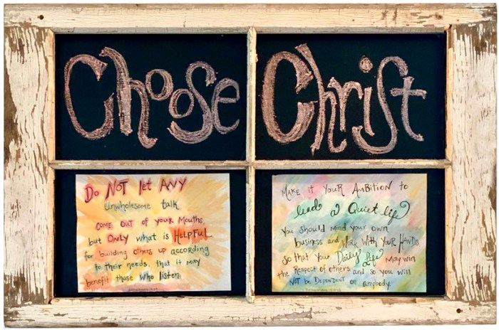 """Adding Scripture to Stand On. . . Write them on your doorposts"