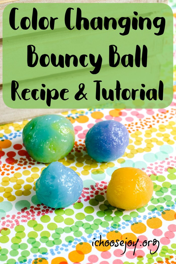 Color Changing Bouncy Ball Recipe and Tutorial