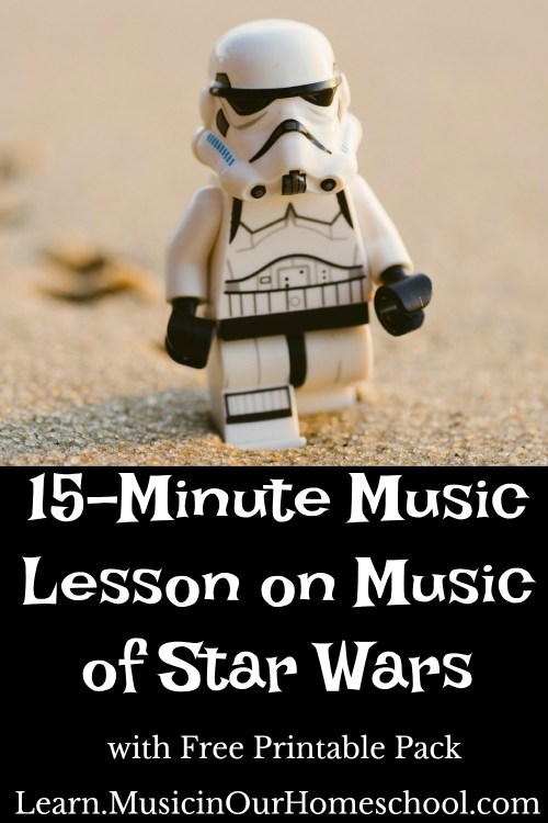 15-Minute Music Lesson on Music of Star Wars to do during your Star Wars camp.