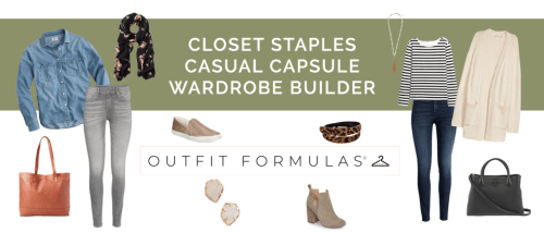 Closet Staples Casual Capsule Wardrobe Builder