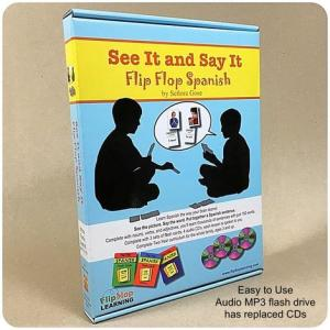 """Flip Flop Spanish """"See It and Say It"""" whole family homeschool Spanish curriculum!"""