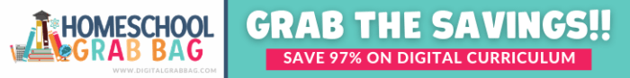 Homeschool Grab Bag ~ digital homeschool curriculum sale, 97% off retail!