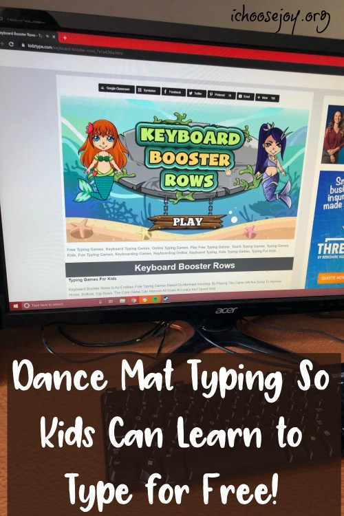 Dance Mat Typing for free typing learning and practice.