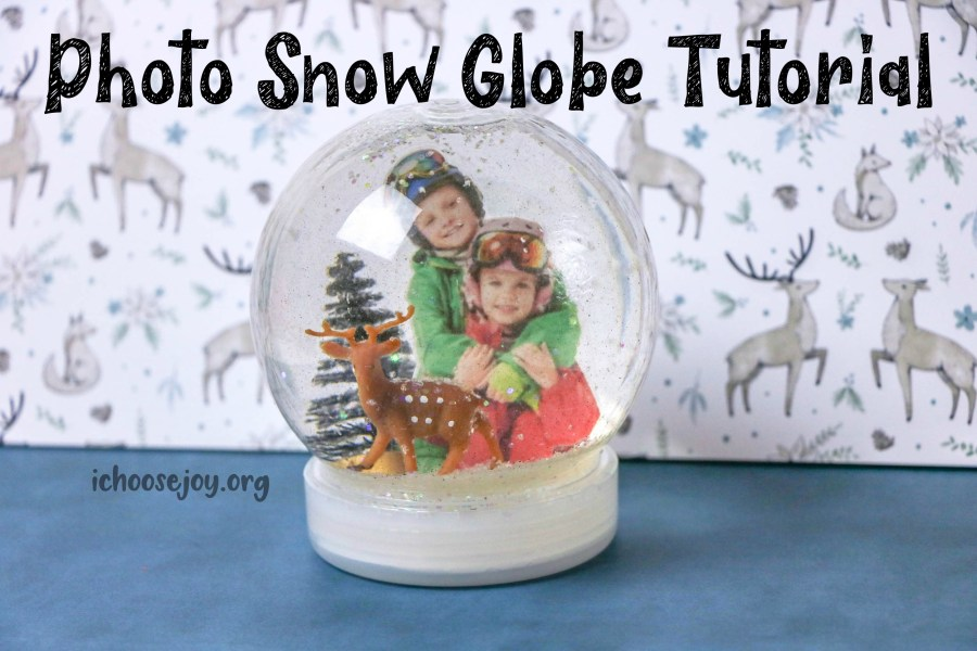 Photo Snow Globe Tutorial ~ A fun project for Christmas or Winter!
