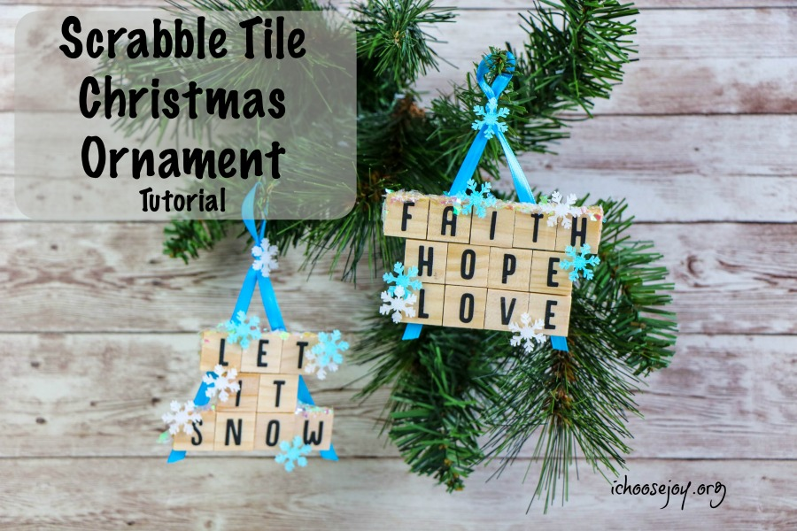 Scrabble Christmas Ornament Tutorial