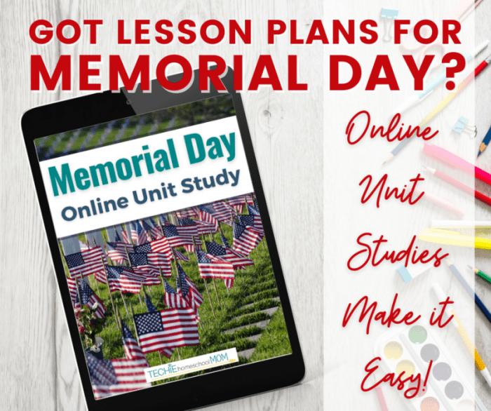 Memorial Day Online Unit Study