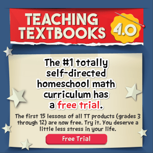 Teaching Textbooks Self Directed Learning Free Trial for homeschool math grades 3rd - 12th.