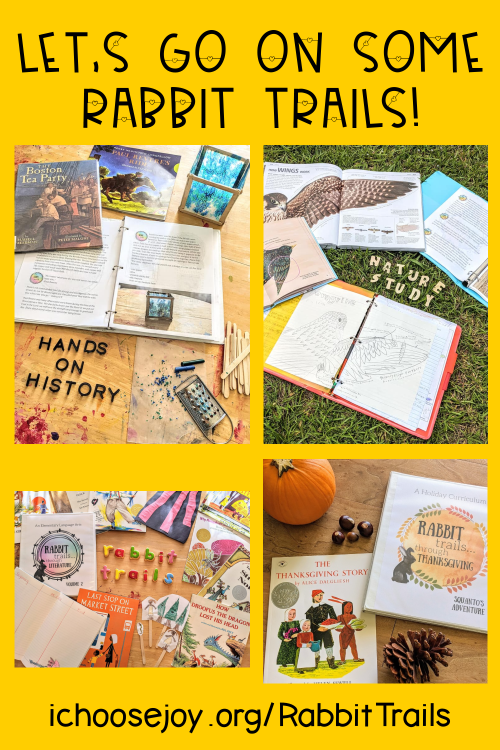 Rabbit Trails Through Literature, Science, Holidays, the National Parks, History -- so many fun ideas for your homeschool!