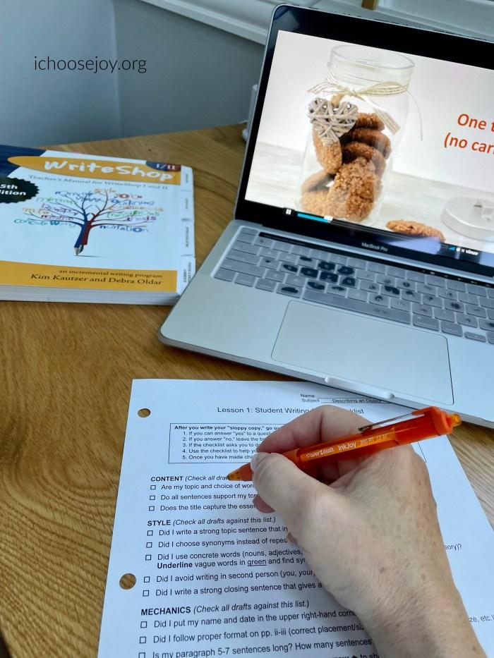 WriteShop I Video Course for teens