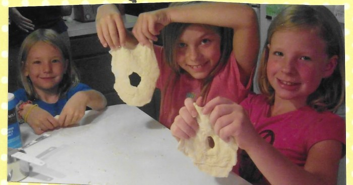 Making fry bread while studying Kaya in American Girl Book Club.