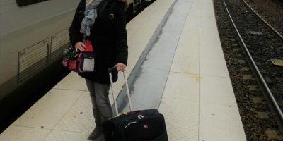 Paris Thalys Anreise Gare du Nord Koffer Kofferpacken