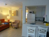 Wohnzimmer und Küche im Cottage