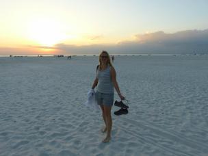 Am weiten Strand von Fort Myers Beach