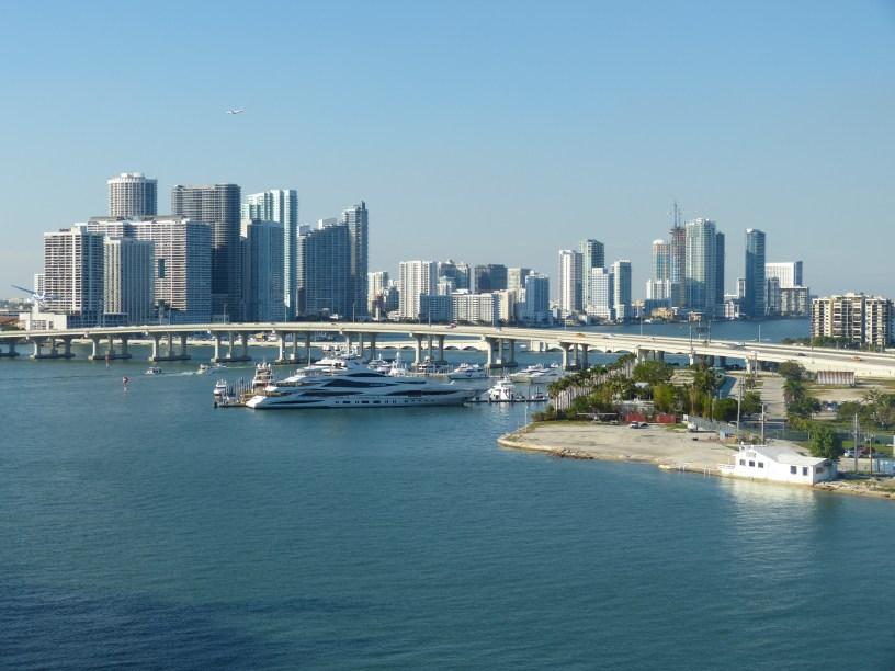 Amerika USA Florida Miami Port Hafen Skyline