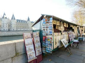 Bouquinisten am Seineufer