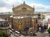 Blick auf Rückseite der Opéra