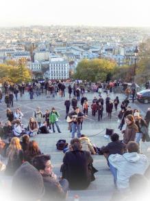 Straßenkünstler vor Sacré Coeur