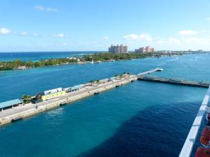 Karibik Kreuzfahrt MSC Divina Bahamas Nassau Hafen Paradise Island Atlantis