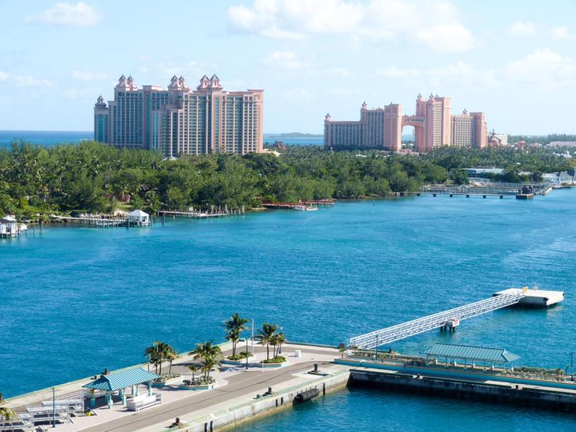 Karibik Kreuzfahrt Bahamas New Providence Nassau Paradise Island Hotel Atlantis Hafen