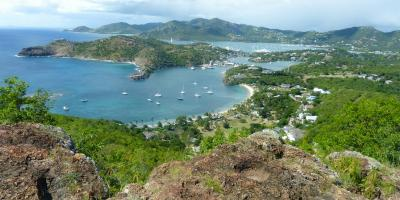 Karibik Kreuzfahrt Antigua Inselrundfahrt Shirley Heights English Harbour Ausblick