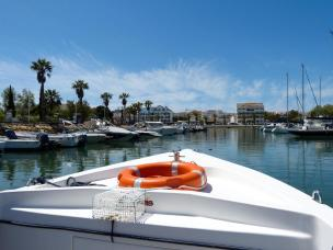 Algarve Lagos Hafen Bootsfahrt Seafaris