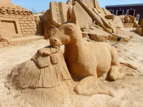 Algarve Pera Sand City Fiesa Sandskulpturen Esel